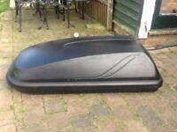 Halfords black car top box