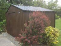bespoke no maintenance pvc coated steel sheds