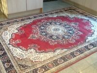Superb quality man-made silk(synthetic)290cm x 200cm(2.9m x 2m)-thin,smooth foldable,washable rug