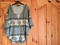 Waverly zippered poncho