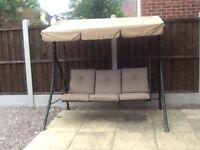 Outdoor garden 3 seater swing sofa chair