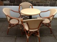 Outdoor and indoor table and chairs from cafe - hardly used! (restaurant garden)