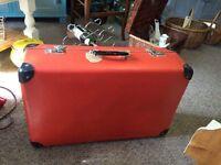 Vintage Orange Suitcase