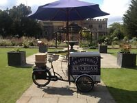 Ice cream Trike/Bike hire for Weddings/events/fetes/festivals/parties/catering