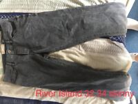 River island jeans 32 34