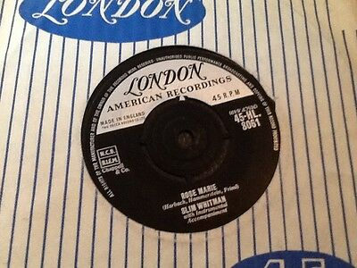 SLIM WHITMAN . ROSE MARIE . Rare U.K. Number 1 HIT . NEAR MINT . London records