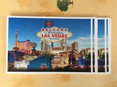 10 Welcome To Fabulous Las Vegas Post Cards 2014 Caesars Entertainment Blank 6X4