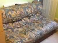 Futon, double bed size.