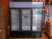 3 Glass Door Chiller Fridge - 1080L - Ready for collection - Drink Beverage Fridge