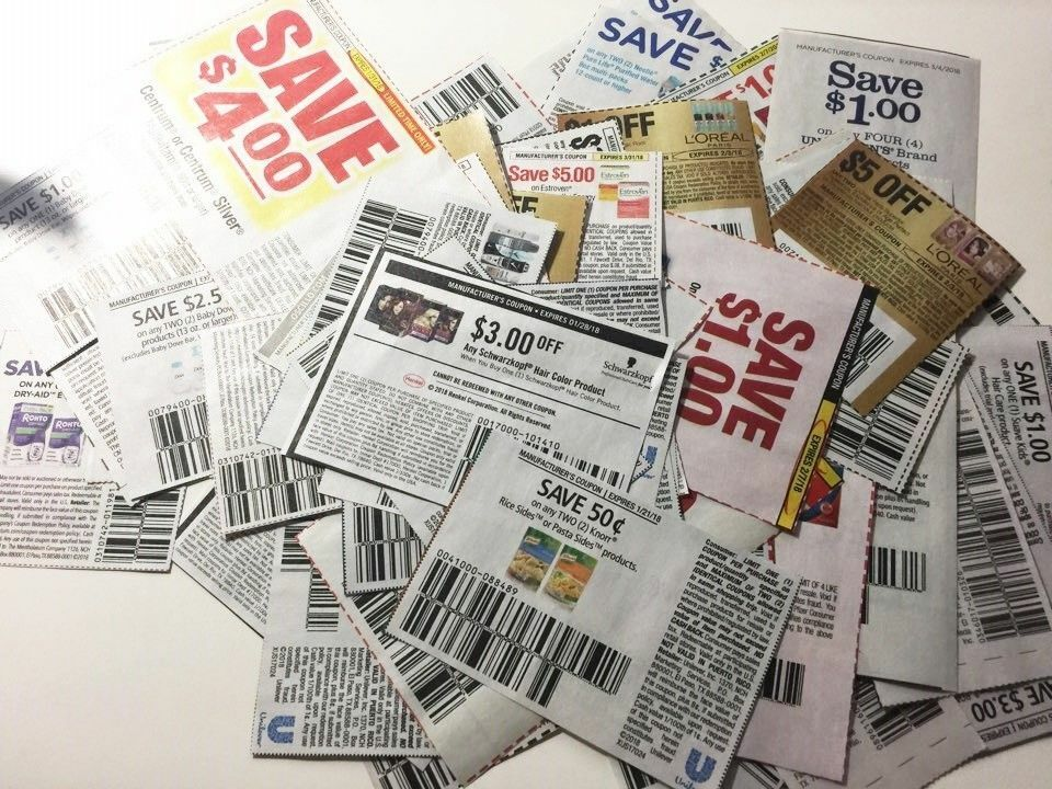 Lot Of 25 Grocery Coupons Grocery Food Cleaning Beauty Etc. From Sunday Flyers - $2.74