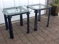 Glass lamp tables (2)