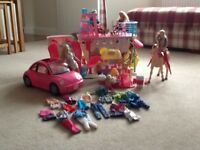 Barbie Bundle including saddle & ride pony