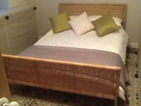 Double bed for sale good condition .mattress