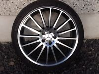 19INCH 5/112 MERCEDEZ C63 STYLE ALLOY WHEELS WITH WIDER REARS WITH GOOD TYRES FIT MOST MODELS