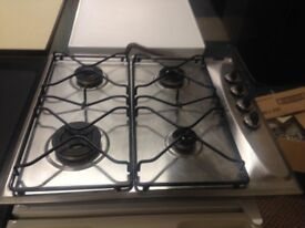 stainless steel 4 burner whirlpool gas hob