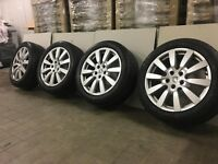 "4 x Used genuine Porsche Cayenne 18"" alloy wheels with 4 x 255/55/R18 Michelin 4x4 tyres"