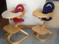 SVAN multi-age highchair for 9mths to young adult and coverts to breakfast bar stool
