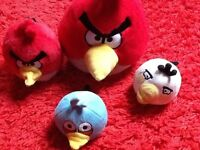 Angry birds plush toys, excellent condition, only sat on top of a bed