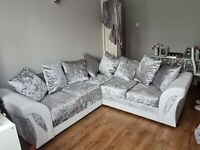 == NEW HIGH QUALITY SHANNON LEATHER CRUSHED VELVET SOFAS ==