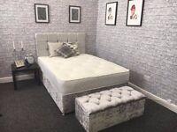 Crushed Velvet Divan Bed