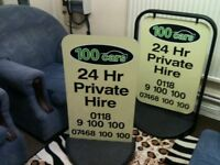 ADVERTISING BOARD, £30 EACH OR £50 THE PAIR