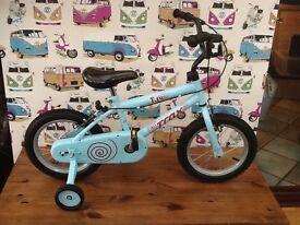 Light blue child's bike