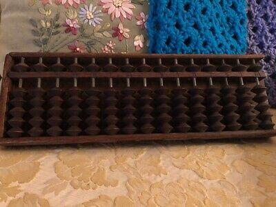 Vintage 15 Rods Japanese Soroban Wood Abacus