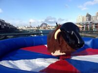 Rodeo Bull Bouncy Castle Mega Slide OB Course Candy Floss Popcorn Balloons Much More
