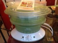 Tefal steam cuisine with recipe book