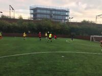 Friendly 8-a-side in Mile End. Every Tuesday. 6pm kick off. New players needed