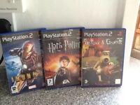 3 PS2 Games Harry Potter, Iron Man and Wallace and Gromit