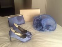 Jacques vert fascinator, bag and size 4 shoes