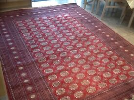 Superb quality man-made silk(synthetic)rug 290cm x 200cm-used for 2 night exclusive art sale