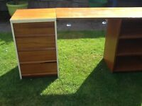 Office desk /bench with 4 drawers and 3 open shelves very sturdy.