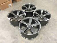 "18 19 20"" Inch Audi TTRS style wheels A3 A4 A5 A6 A7 A8 Caddy Van Seat Leon Skoda 5x112"
