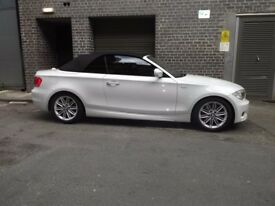 BMW 118D M SPORT CONVERTIBLE 2013 13 REG SEMI AUTO WHITE NOT MERCEDES AUDI RS4