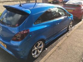 Opel Corsa VXR Arden Blue with private plate