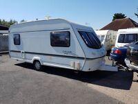 Elddis Cyclone XL 5 berth caravan 2001, Awning, Light to tow VGC !!