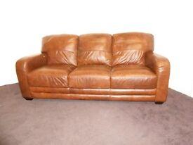 geniune leather 3 seater dfs ex display