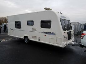 Bailey Pegasus 554 4 berth caravan FIXED ISLAND BED, MOTOR MOVER, VGC