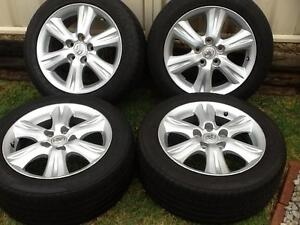 Four 16' Toyota Corolla mag wheels with 205 55 16 tyres Prestons Liverpool Area Preview