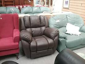 Brown Leather Lazyboy Recliner