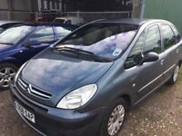 Citroen Xsara Picasso 1.6 Desire petrol. 2008 08 , 18,000 miles from new, one owner.