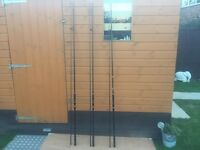 3 x ESP TRACER CARP FISHING RODS - 12 ft 3.25 lb t.c EXCELLENT CONDITION - FOR JUST £130