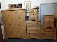 Pine Wardrobe, Drawers, Cabinets FROM £40 LOW COST MOVES 2nd Hand Furniture STALYBRIDGE SK15 3DN