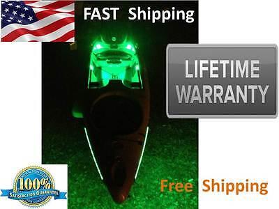 Kayak or CANOE - Green Fishing LED Light Kit - Complete KIT