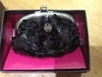 Pretty black sequin fiorelli purse