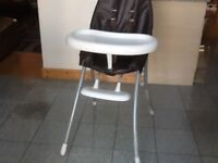 Used highchair with detachable tray/table-2 of the legs have some light plaster splashes on them