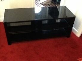 High Gloss. Heavy TV Unit. with shelves .