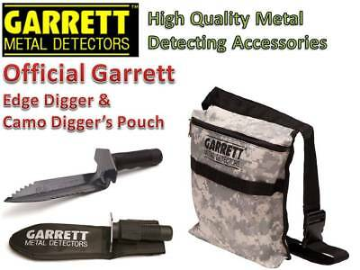 Camo Treasure Pouch & Garrett Edge Digger-Made For Metal Detecting-FREE Shipping